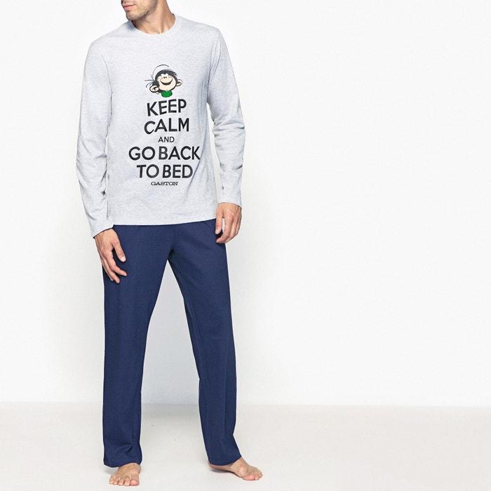 afbeelding Pyjama met lange mouwen met print van GASTON LAGAFFE GASTON LAGAFFE