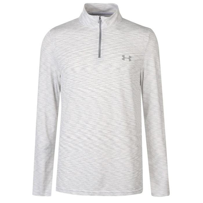d21722b3c2e01 T-shirt de sport avec longues manches blanc Under Armour   La Redoute