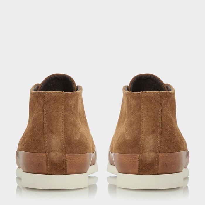 Colour pop lace up boot - curtis fauve daim Bertie