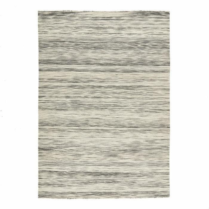 Tapis style kilim tissé à plat en laine Épicène