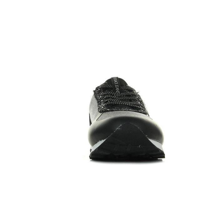 Baskets femme linea fondo amber dis1 mesh glitter noir, gris Versace
