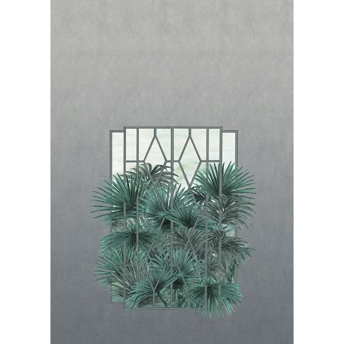 Papier Peint Panoramique Trompe L Oeil Avec Fenetre Et Palmiers