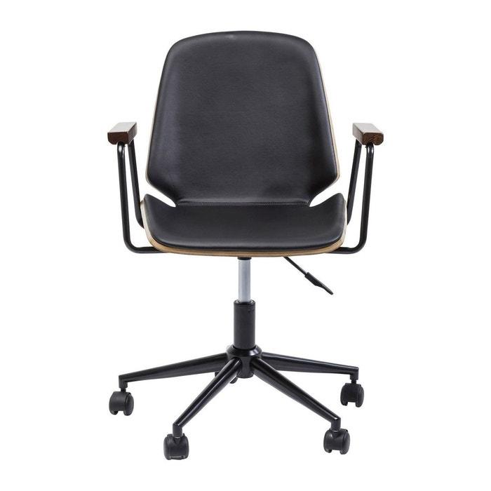Chaise de bureau pivotante work kare design noir kare - La redoute chaise de bureau ...