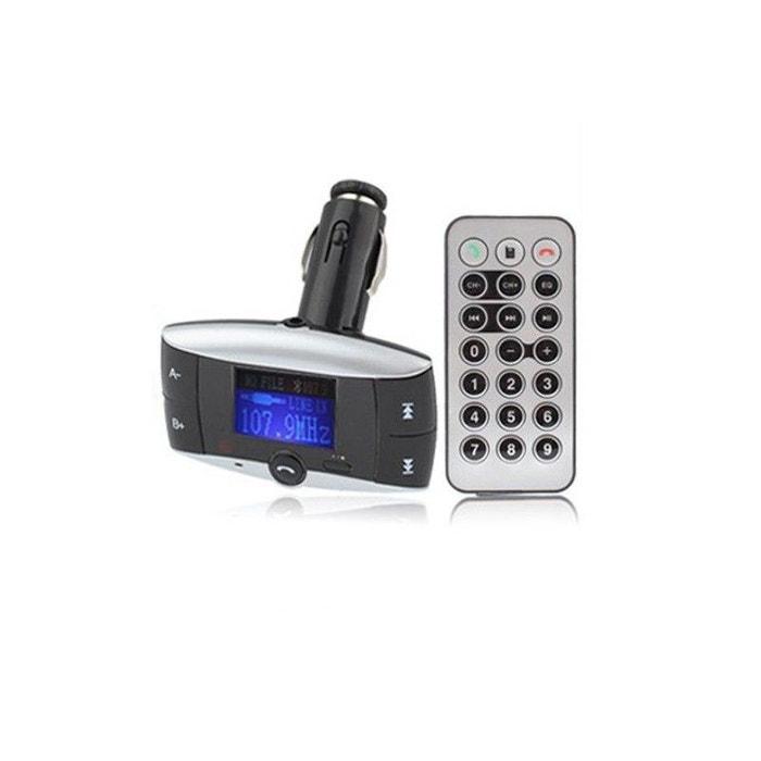 transmetteur fm voiture bluetooth mp3 usb carte sd jack 4 go yonis la redoute. Black Bedroom Furniture Sets. Home Design Ideas