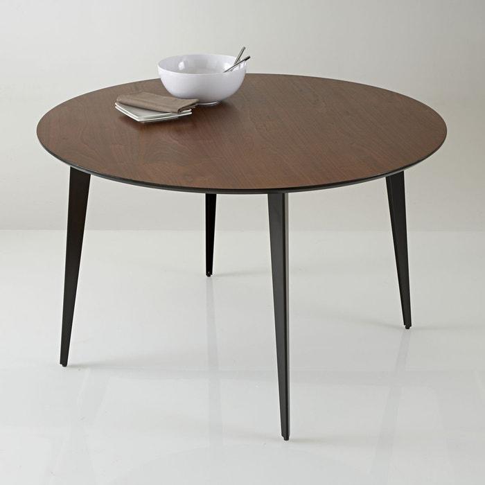 table repas ronde vintage watford noyer la redoute interieurs la redoute. Black Bedroom Furniture Sets. Home Design Ideas