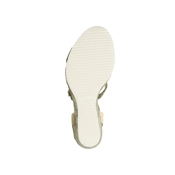 Sandales cuir compensées adesha art vert kaki Clarks
