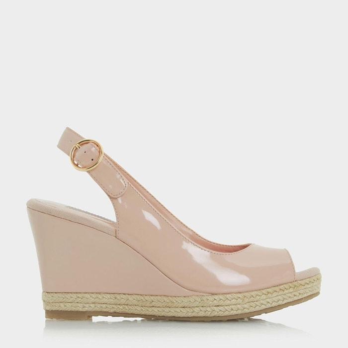 Sandales compensées à bordure effet espadrille - klick  chair verni Dune London  La Redoute