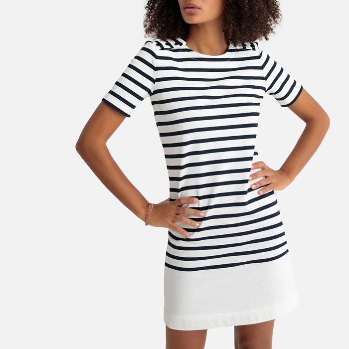 abd41426040 Breton striped buttoned cotton dress