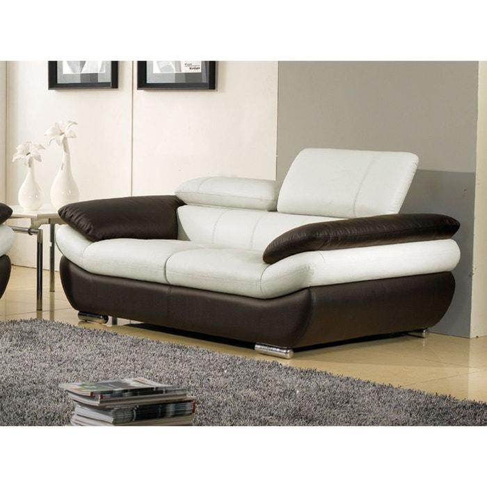 canap cuir 3 places rosy la maison du canape la redoute. Black Bedroom Furniture Sets. Home Design Ideas