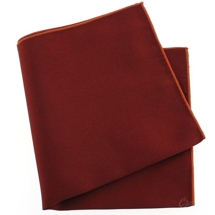 Pochette soie, rouge peonia, ourlet orange rouge Tony Et Paul | La Redoute