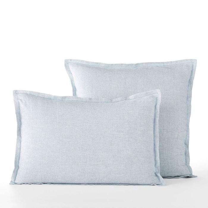 taie d 39 oreiller en lin chambray ekani am pm la redoute. Black Bedroom Furniture Sets. Home Design Ideas