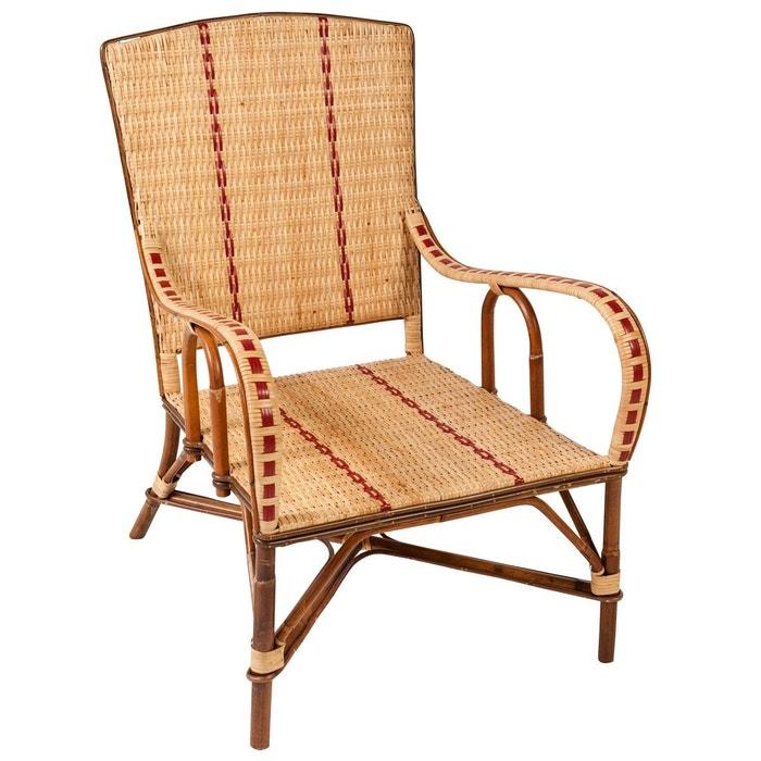 maxi fauteuil en rotin bagatelle marron fonc kok la redoute. Black Bedroom Furniture Sets. Home Design Ideas
