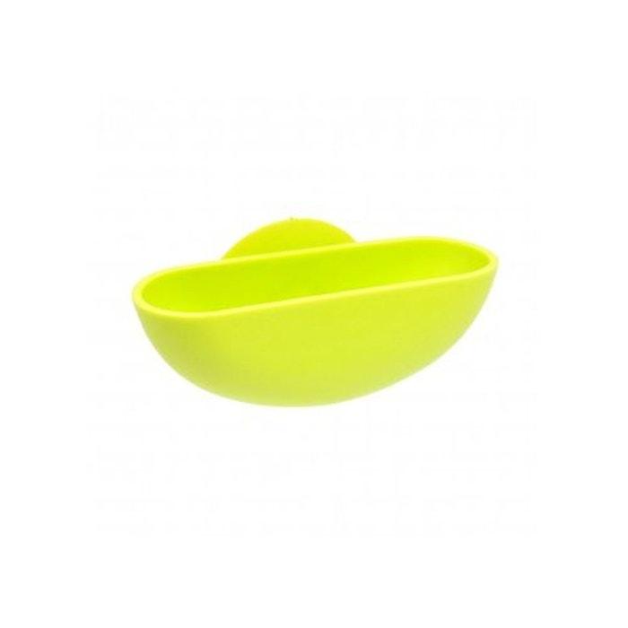Porte-savon à ventouse en plastique vert anis Home Bain | La Redoute