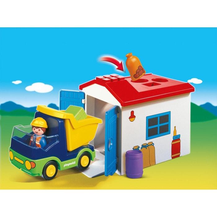 Camion avec garage multicolore  PLAYMOBIL image 0