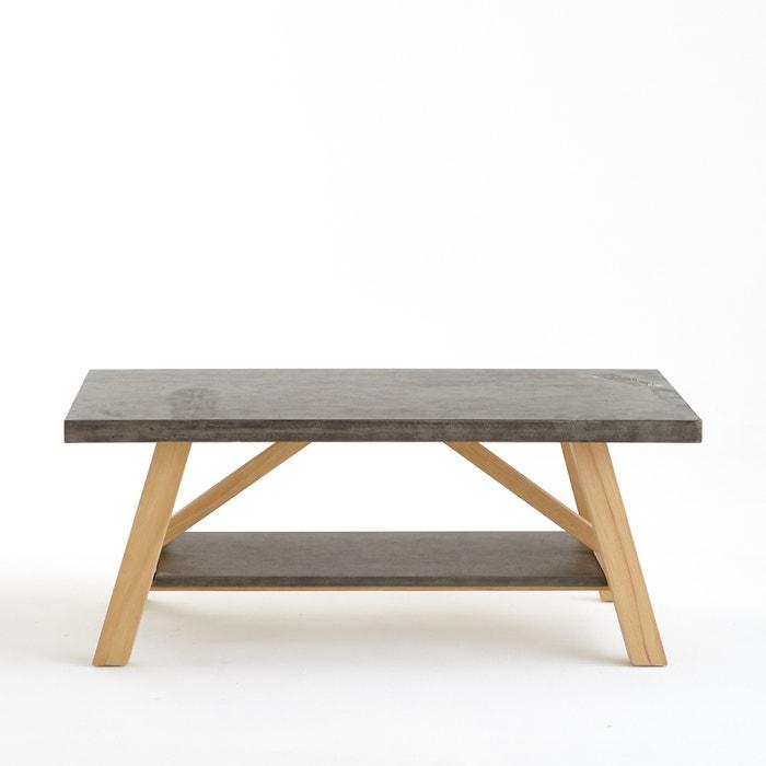 flacher tisch concrite tischplatte in betonoptik grau. Black Bedroom Furniture Sets. Home Design Ideas