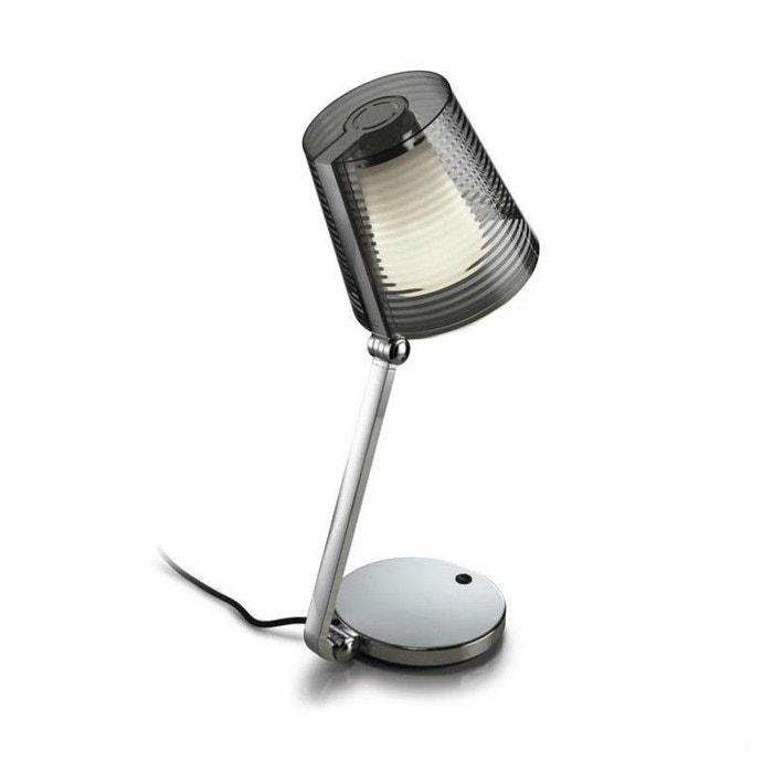 lampe poser abat jour emy orientable chrome leds c4 la. Black Bedroom Furniture Sets. Home Design Ideas