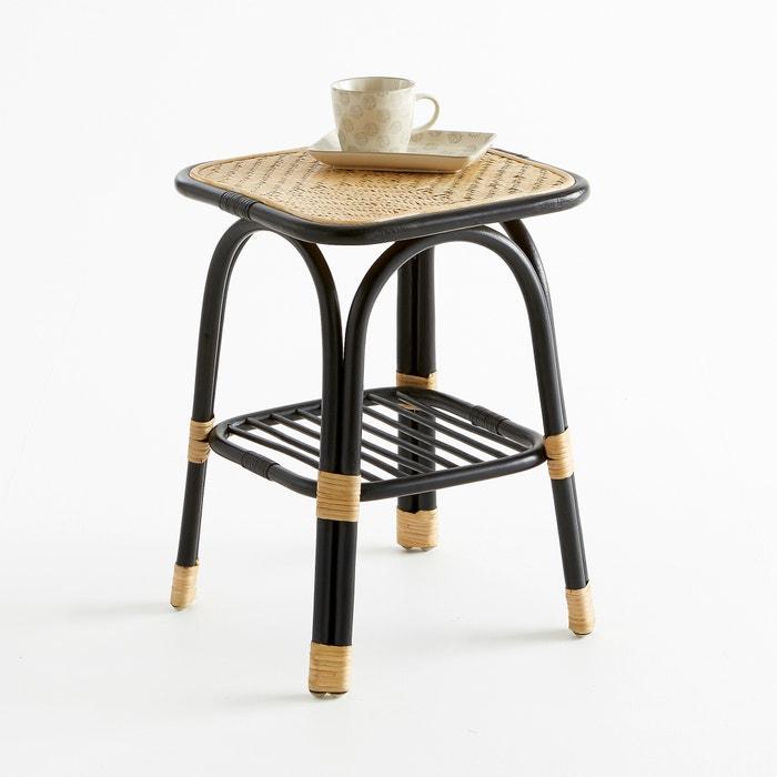 Nihov rattan occasional table natural black la redoute - Table cuisine la redoute ...