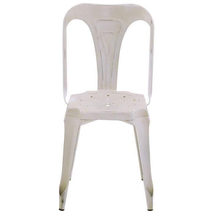 chaise industrielle m tal vieilli uzin couleurs des alpes la redoute. Black Bedroom Furniture Sets. Home Design Ideas