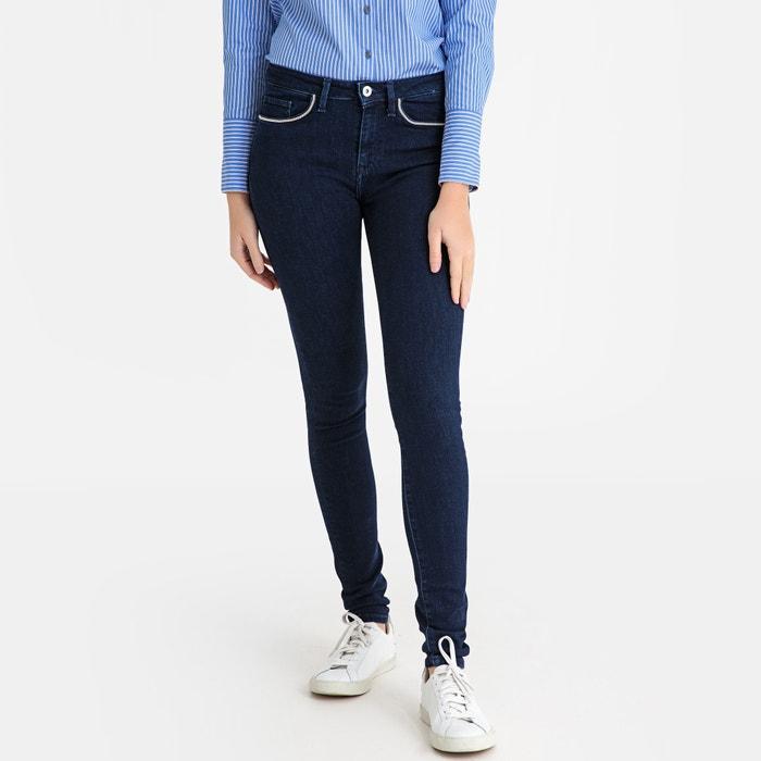 e668d8b9fb45d7 Slim-fit-jeans mit hohem bund blue denim Tommy Hilfiger | La Redoute