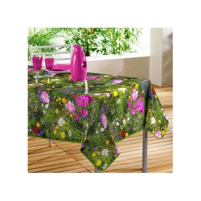 nappe rectangulaire en pvc photoprint champ fleuri sans. Black Bedroom Furniture Sets. Home Design Ideas