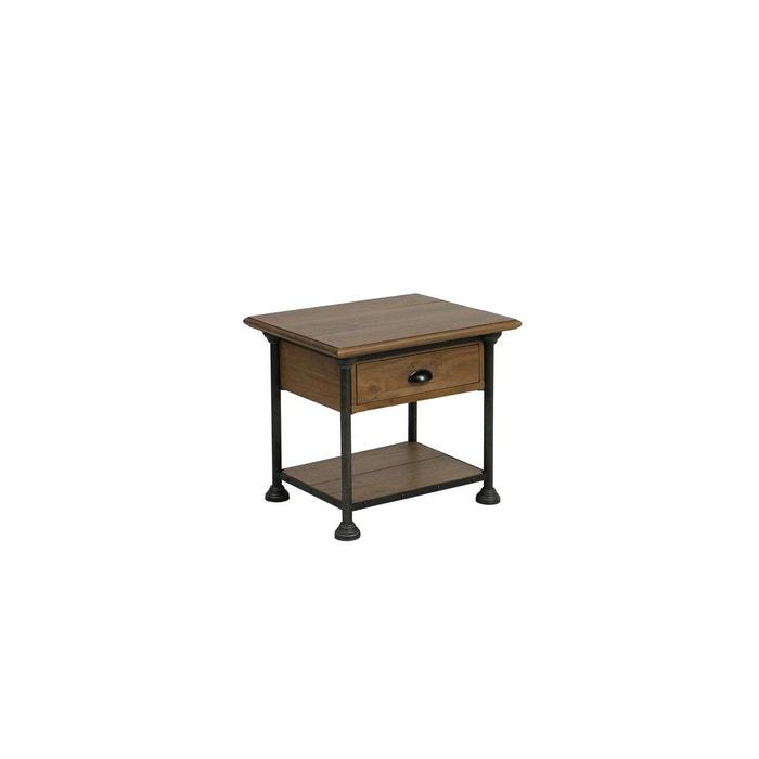 Table Basse Bout De Canapé 1 Tiroir Bois Massif Marron Interior S