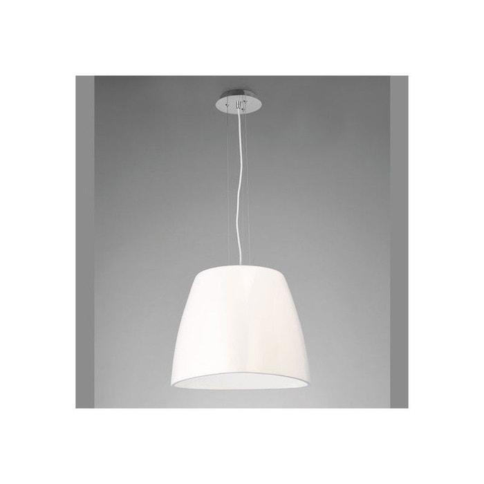 grand lustre blanc loft eggo blanc millumine la redoute. Black Bedroom Furniture Sets. Home Design Ideas
