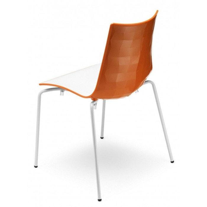 Chaise design avec pieds blanc A l'unité ZEBRA BICOLORE deco scab