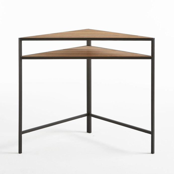 Table de jardin d\'angle en métal et acacia acacia La Redoute ...
