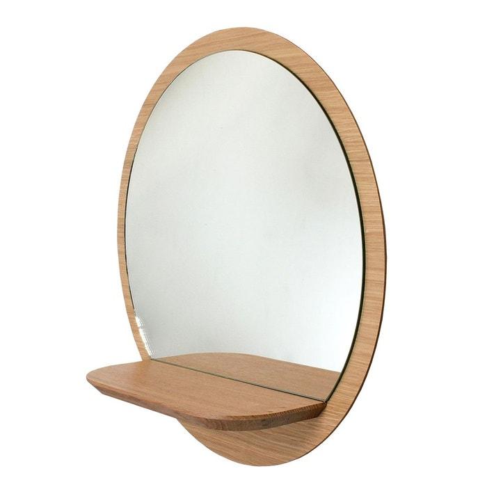 Miroir rond en panneaux plaqu sunrise m beige reine m re for Gros miroir rond