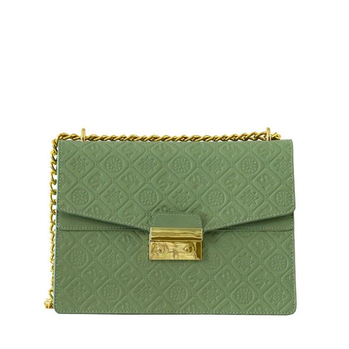 Vente Sast Sac à main et sac en bandoulière en cuir vert/or Silvio Tossi   La Redoute La Sortie Commercialisable GPgTl1O