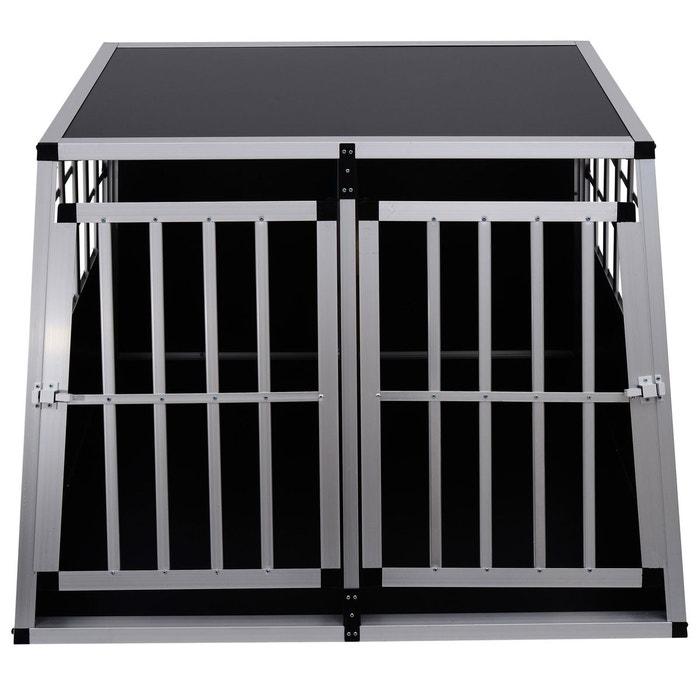 Cage de transport pour chien en aluminium avec cloison démontable lxl noir  104x91x69cm - homcom Homcom   La Redoute 19a630fbd83f