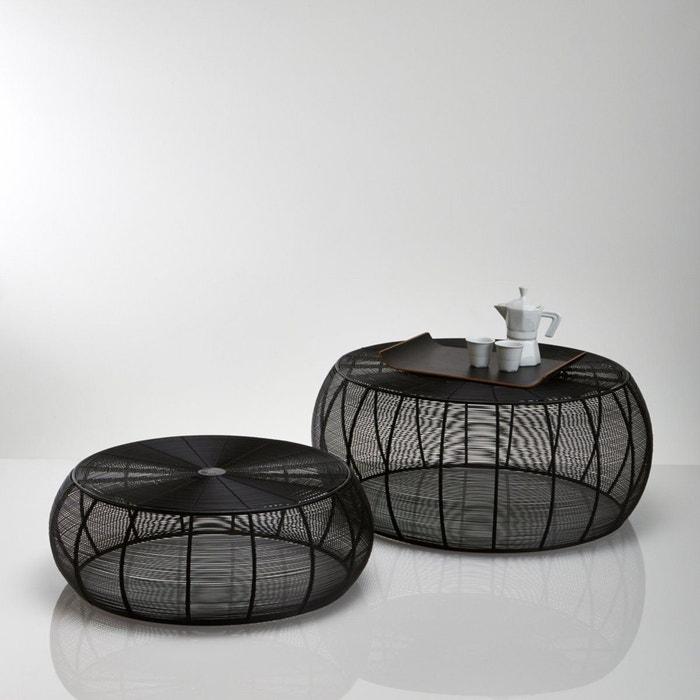 Table basse ronde acier filaire lot de 2 bangor noir la - La redoute table de salon ...