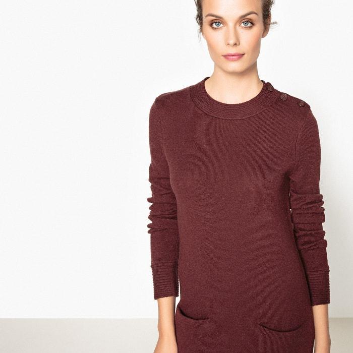 623de8d093eb Wool blend jumper sweater dress chocolate La Redoute Collections ...