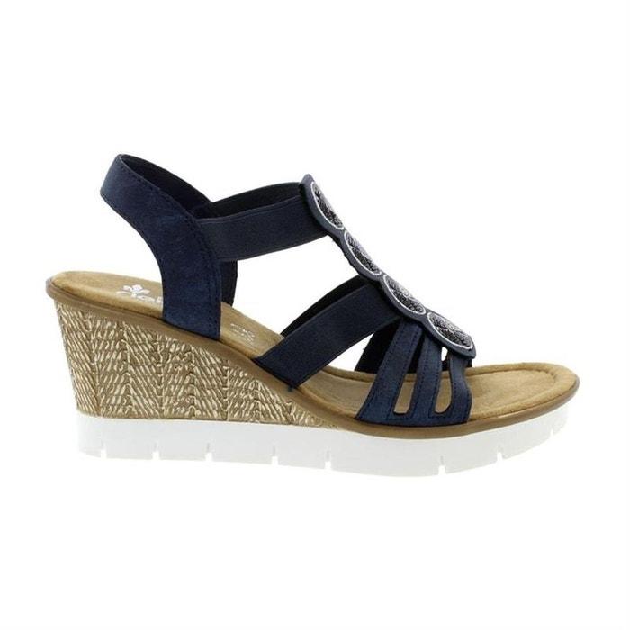 dd91c3ea93f269 Sandales / nu-pieds textile, synthetique bleu Rieker | La Redoute