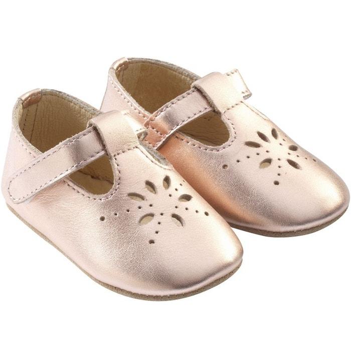 338e2629a436c Chaussures bébé cuir souple salome rose Tichoups