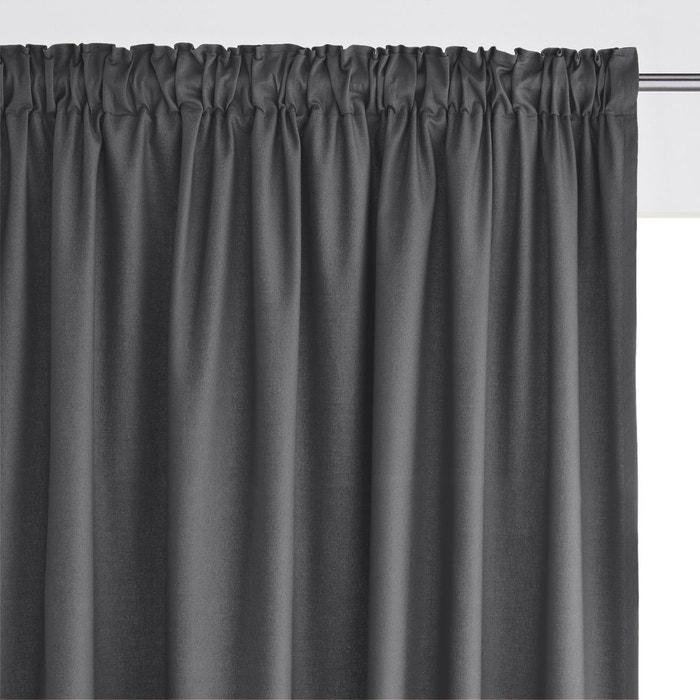 rideau pur coton galon fronceur scenario la redoute. Black Bedroom Furniture Sets. Home Design Ideas