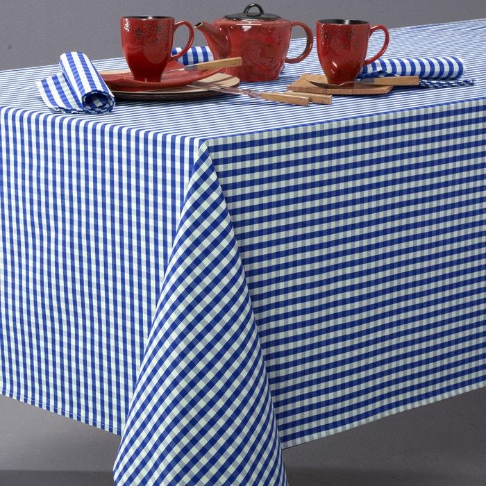 Image Nappe vichy en pur coton tissé-teint, GARDEN PARTY La Redoute Interieurs