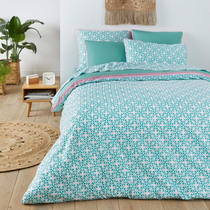 capa de edredon puro algod o yucatan estampado branco. Black Bedroom Furniture Sets. Home Design Ideas