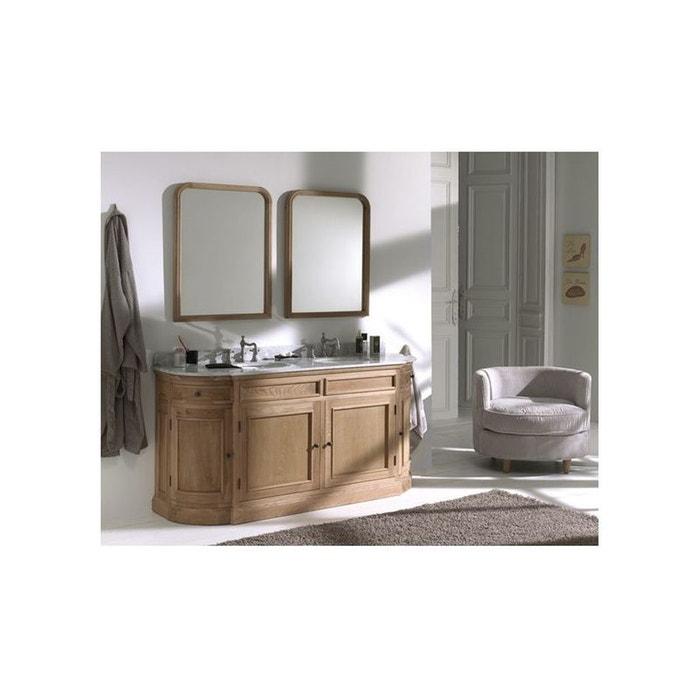 meuble de sdb double vasque en ch ne cl mence bois fonc hellin depuis 1862 la redoute. Black Bedroom Furniture Sets. Home Design Ideas