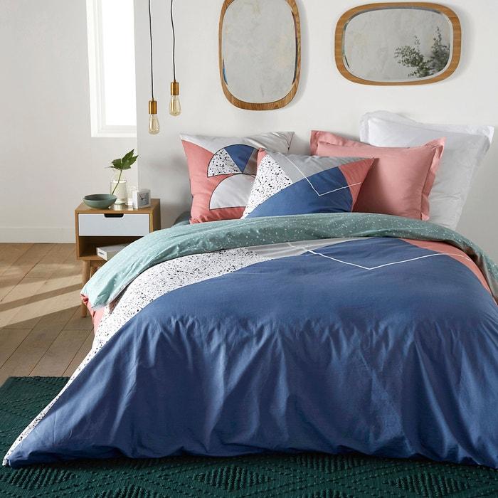 capa de edredon em algod o hilda rosa azul branco la. Black Bedroom Furniture Sets. Home Design Ideas