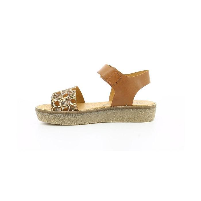 Sandales cuir femme victory camel Kickers