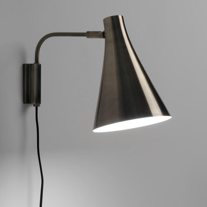 lampada da parete con finitura in bronzo invecchiato. Black Bedroom Furniture Sets. Home Design Ideas