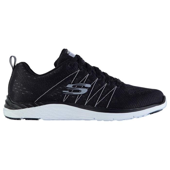 Baskets de running noir/blanc Skechers
