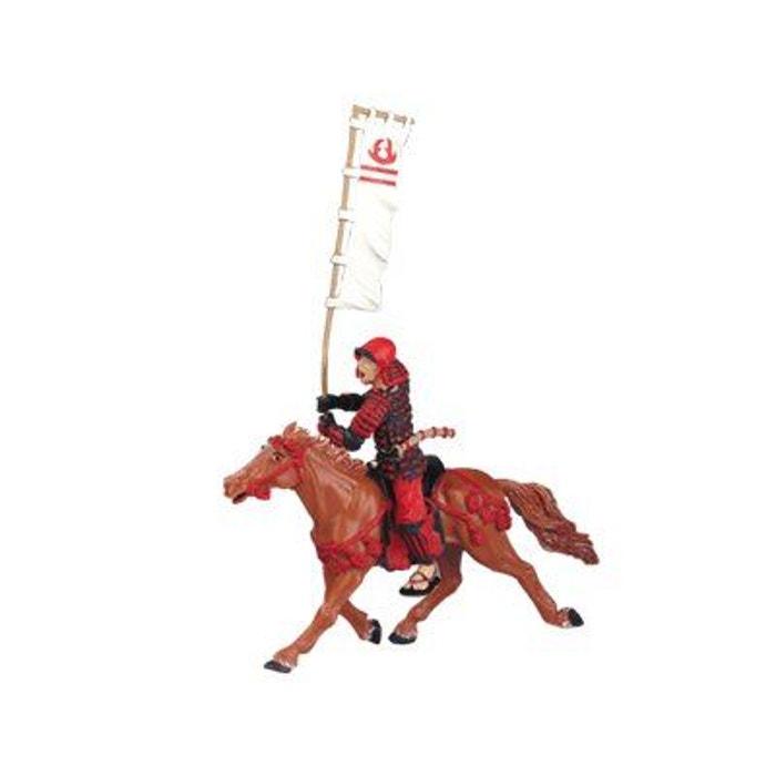 Figurine Cheval du samouraï fauve harnaché (sans chevalier) PLASTOY