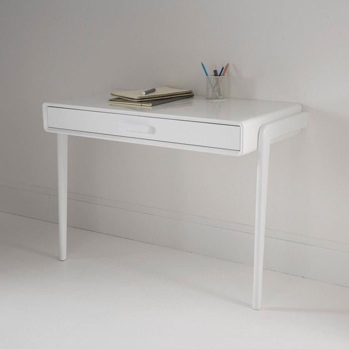 Bureau console vintage colas blanc la redoute interieurs for Bureau 90 cm de large