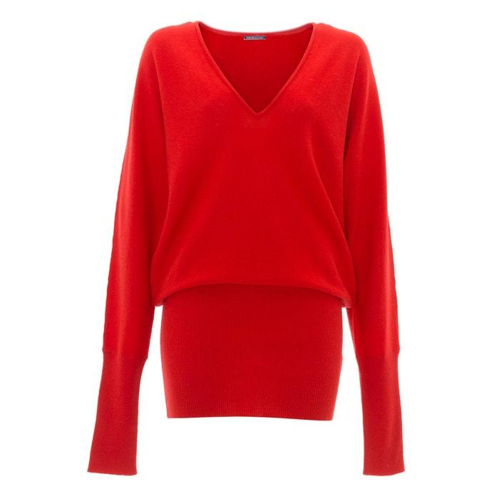 pull robe en cachemire rouge rouge renoma la redoute. Black Bedroom Furniture Sets. Home Design Ideas