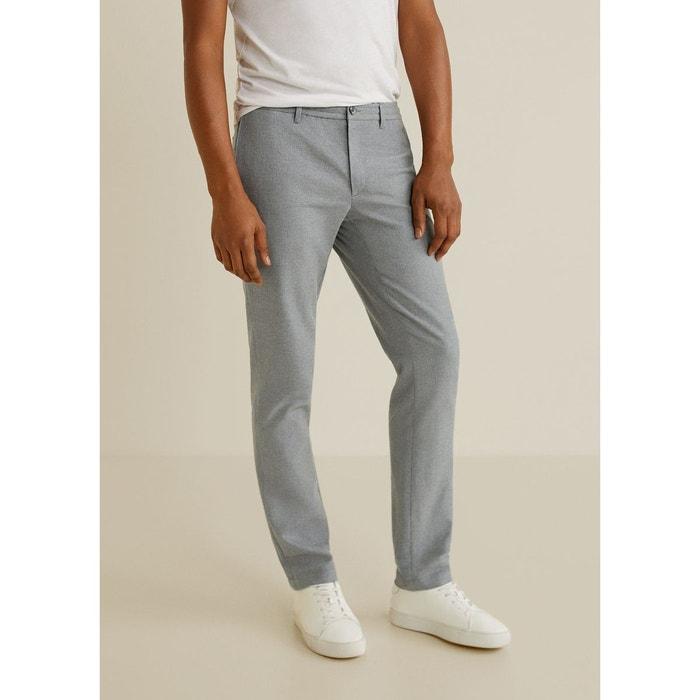 831090f9d2dc4 Pantalon slim-fit style chino gris Mango Man   La Redoute