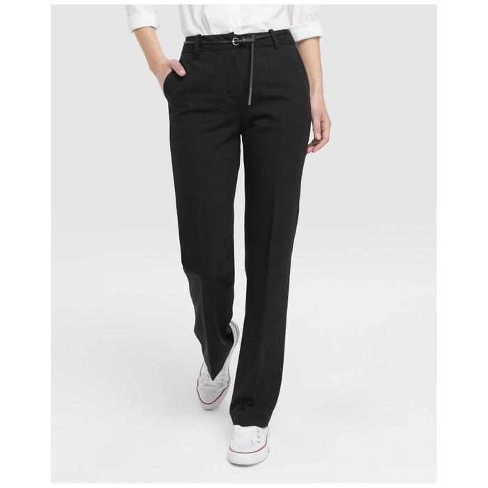 a2035fbf676 Pantalon habillé avec ceinture noir Easy Wear