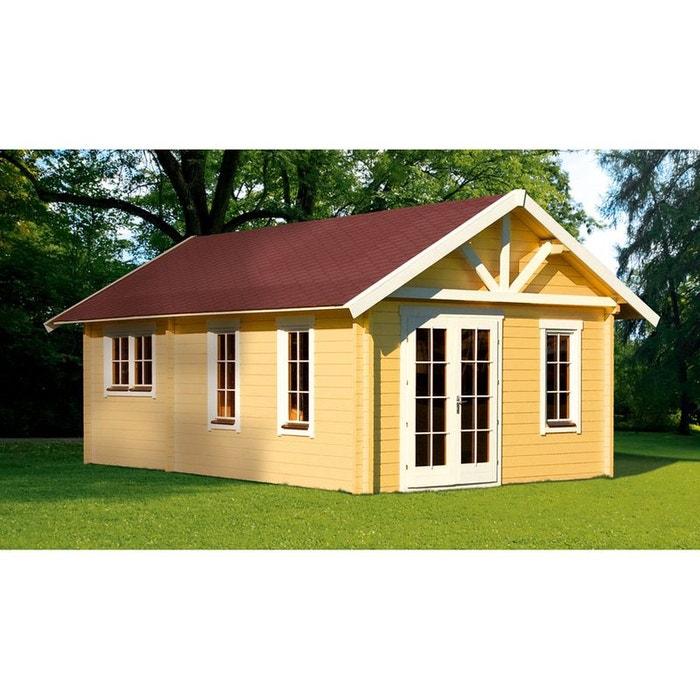 Abri jardin bois toronto 4 27 72 m x x m 70 mm couleur unique h j for Abri de jardin en bois la redoute