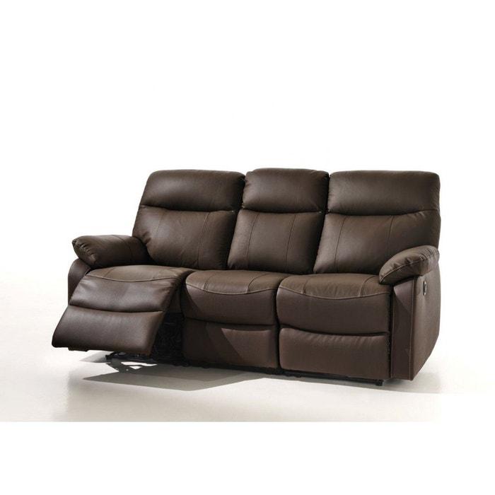 suzy canap relax electrique 3 personnes en simili. Black Bedroom Furniture Sets. Home Design Ideas